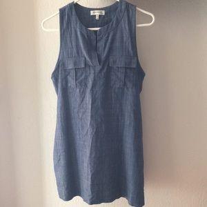 Sleeveless Jean Dress w Pockets